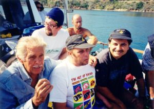 Sergio con Jaques Mayol e Aldo Torti