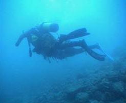 Sergio in immersione subacquea
